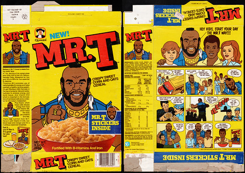 Quaker - Mr. T cereal box - Mr. T Stickers - 1984