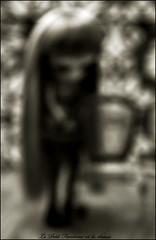 Le Petit Fantme et la chaise (  Pounkie  ) Tags: bw pullip nero chaise flou noirblanc spia no pullipcustom pullipnero noprenn wiglaudanum lepetitfantmeetlachaise giftofred