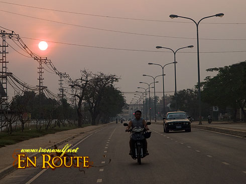 Laos Vientiane Morning Drive