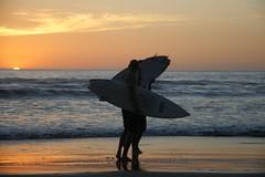 Days End (Kathy~) Tags: ocean sunset sea water costarica surf tamarindo cw surfers surfboards fc 2people anythinggoes pfogold msh0809 msh080914 herowinner