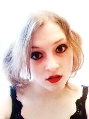 Dolly (Grrrls on MDMA) Tags: selfportrait me rock myself punk grunge headshot lolita redlipstick dolly 2008 alternative paleskin riotgrrrl yurichan blackeyemakeup kinderwhore freyafarren freyasilvijeanfarren
