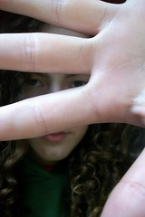 Cover Up those Lies (phaedraisfly) Tags: brown hair eyes hand fingers curly