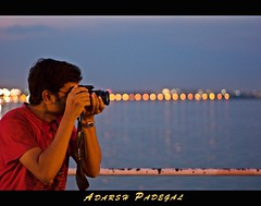 the BOKEH  Shooter  / Hyderbad Bokeh Express... (Adarsh Padegal) Tags: india water lensbaby rebel 50mm friend bokeh buddy ap hyderabad andhra adarsh pca hpc satya telugu andhrapradesh tankbund necklaceroad canon450d krishlikesit bokehshooter adarshpadegal bokehtrain