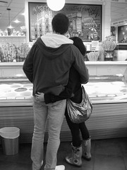One Scoop or You? (pineapple_shell) Tags: blackandwhite bw love vancouver blackwhite icecream venables lacasagelato