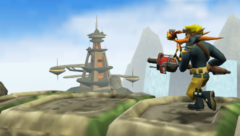 Jak and Daxter: The Lost Frontier screenshot Brink Castaway 2