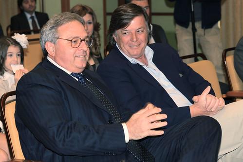 Gian Mario Spacca e Adriano Panatta