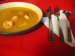 minestra di gamberetti e zenzero