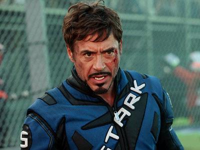 Iron Man 2 traje azul negro