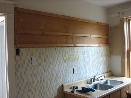 Plywood cabinet backing