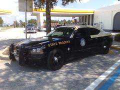 State Trooper (Toni Kaarttinen) Tags: usa car america parkinglot unitedstates florida police gasstation policecar dodge charger statetrooper