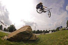 Dave Toboggan (MikeMcGowan) Tags: bike canon bmx ride fisheye vivitar 580ex peleng8mmf35 50d 285hv