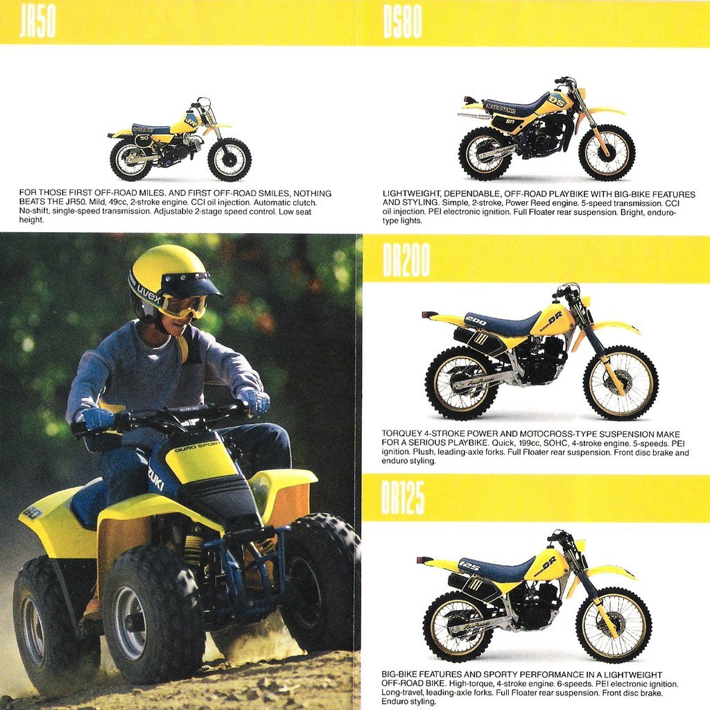 Suzuki 1987 Entry Level Dirt Bikes