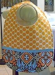 Bib in two tones and flannel on back (Unisex) (Lila Lia Designs) Tags: bib bibs burpcloth wipecases