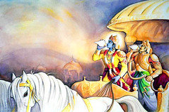 ISKCON desire tree - Krishna and Arjuna blow transendental conch shells (ISKCON desire tree) Tags: vishnu demon krishna garuda kidnap radha gopis rukmini chaitanya radhakrishna iskcon narasimha madhava bhumi govardhan bhima lordvaraha