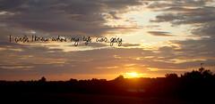 Postsecret#17 (milliewalshphotography.) Tags: sunrise nikond50 postsecret