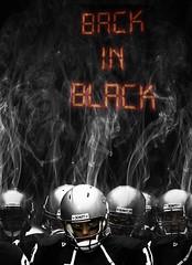 Back in Black (Greenbauer) Tags: school black sports back football high team smoke clark players cougars