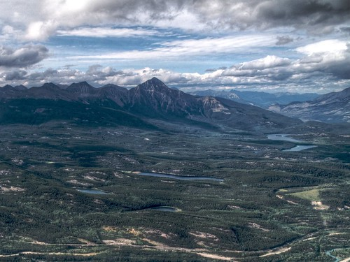 Jasper Mountains in HDR