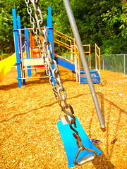 swingg (heatherm815) Tags: park summer playground sunny swing swingset mulch sunnyday summerday