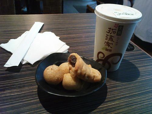元氣麻糬球加紅茶