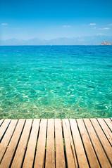 Mediterranean colors (canbalci) Tags: ocean travel blue sea summer vacation holiday nature water turkey mediterranean turquoise horizon turkiye relaxing tropics