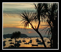 Tropical Sunset (pixiepic's) Tags: sunset sky clouds boats harbour best palmtrees otw platinumheartaward rubyphotographer bestofmywinners