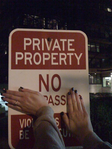 Private Property: No Ass