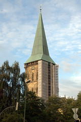 Steeple Under Construction from West
