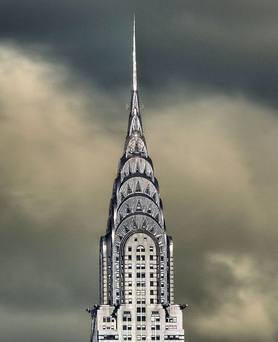 iconic Art Deco skyline in Manhattan