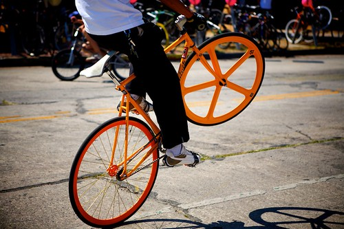 Very Orange Wheelie