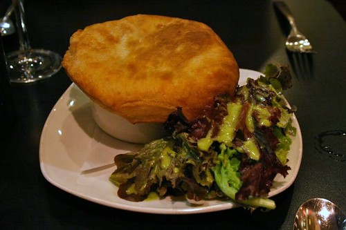 Pot pie with hamakua mushrooms