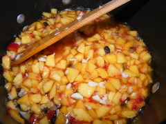 Preparing the chutney
