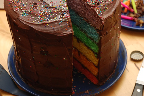 cake of rainbow awesomeness