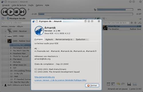 Amarok 2.2 rc1 en action