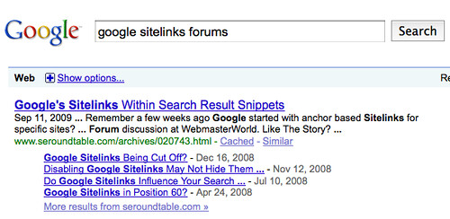 Deeper Google Sitelinks With Data