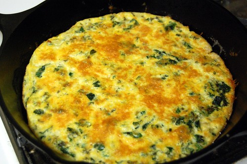 (un)Mixed Greens Frittata