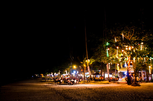 panglao island at night