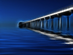 Scripps Pier (peasap) Tags: ocean california beach water canon pier october lajolla powershot scripps g10 fractalius