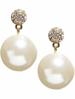 Banana Republic pearl diamante earrings