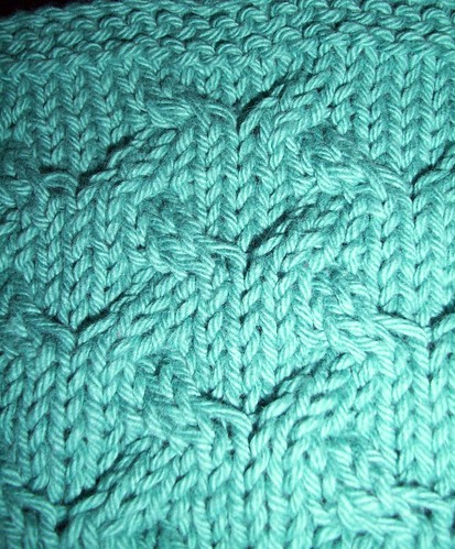 C4 Lattice closeup in P&C Teal