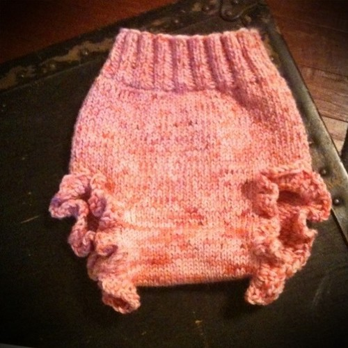 Soakers just off the needles...for Sophia.