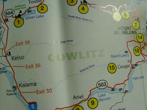 Cowlitz County A map of Cowlitz