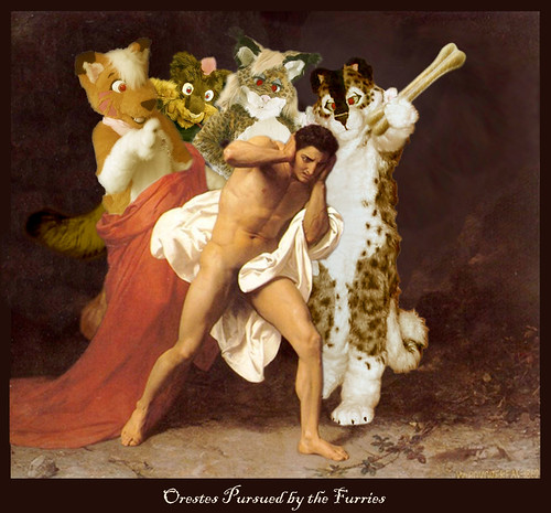 Orestes pursude by the furries