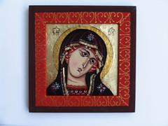 Fecioara Maria (cod FM5) (Marius Paciu Art) Tags: icons religiousart virgenmaria cultobject