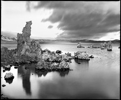 Tufa Land | South Tufa Tower Mono lake CA USA (ART SRISAK | PHOTOGRAPHY) Tags: california bw reflection mamiya film mediumformat monolake waterscape monart 123bw autaut rb67pros filmforward