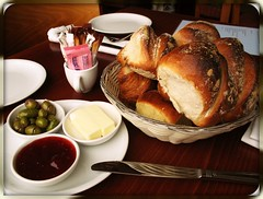 Bread & Butter (blind_donkey) Tags: food port bread restaurant israel telaviv butter boardwalk jam gilis beautifulexpression