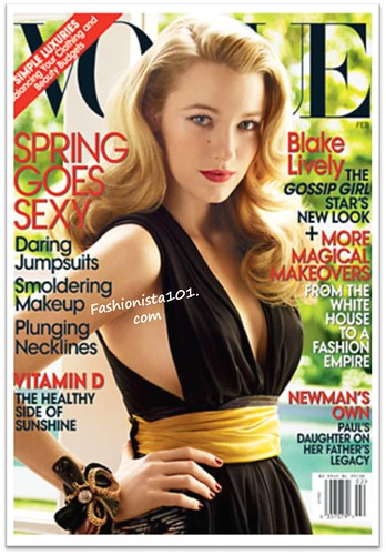 Gossip Girl's Blake Lively (aka Serena) covers next month's issue of VOGUE,