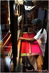 Weaving (Danny J) Tags: india men work canon madras working weaving dakshinchitra xti canon400d canonxti canon400 saary danielsphotography