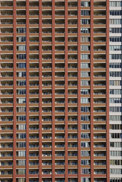 建物外枠の幾何学模様