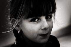 Malice (Christine Lebrasseur) Tags: portrait people blackandwhite france art girl face canon child emotion expression emma expressive glance intenseeyes penetratingeyes kidslife bestofr allrightsreservedchristinelebrasseur