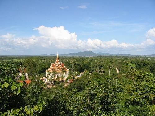 bovenzicht op pagoda